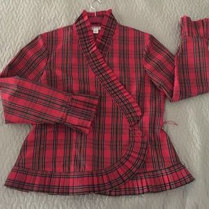 Tops - Isadora Plaid Christmas Scottish dress wrap blouse